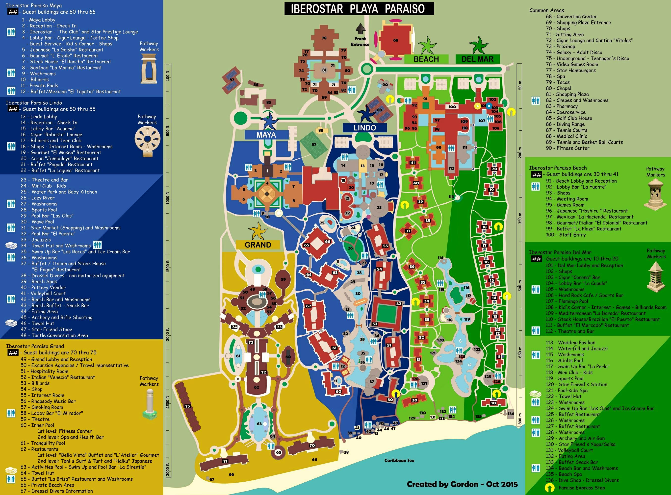 Map Layout Iberostar Paraiso Maya The Bucket List