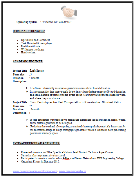 Example Of Resume Formats Page   Career    Resume