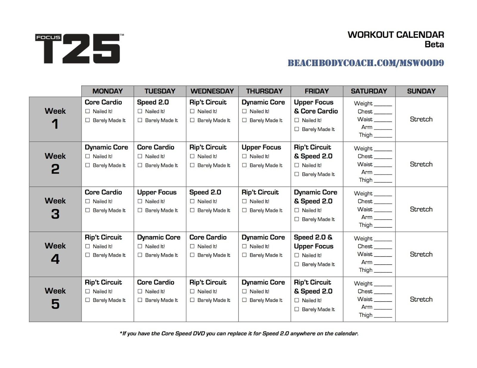 t25 work out calendar printable |  t25 workout calendar, focus