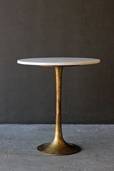 A Statement Piece For Your Home The Round Brass Coffee Table With Marble  Top Is Simply