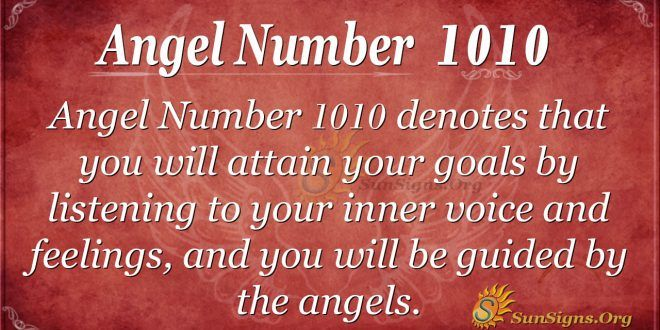 Angel Number 1010 Meaning – Trust Yourself Always