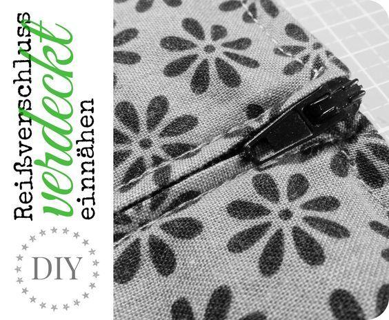 kleine fluchten verdeckter rei verschluss in super easy tutorial n hen. Black Bedroom Furniture Sets. Home Design Ideas