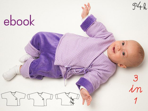 Baby jacket pattern, Baby wrap jacket, lined reversible jacket for ...