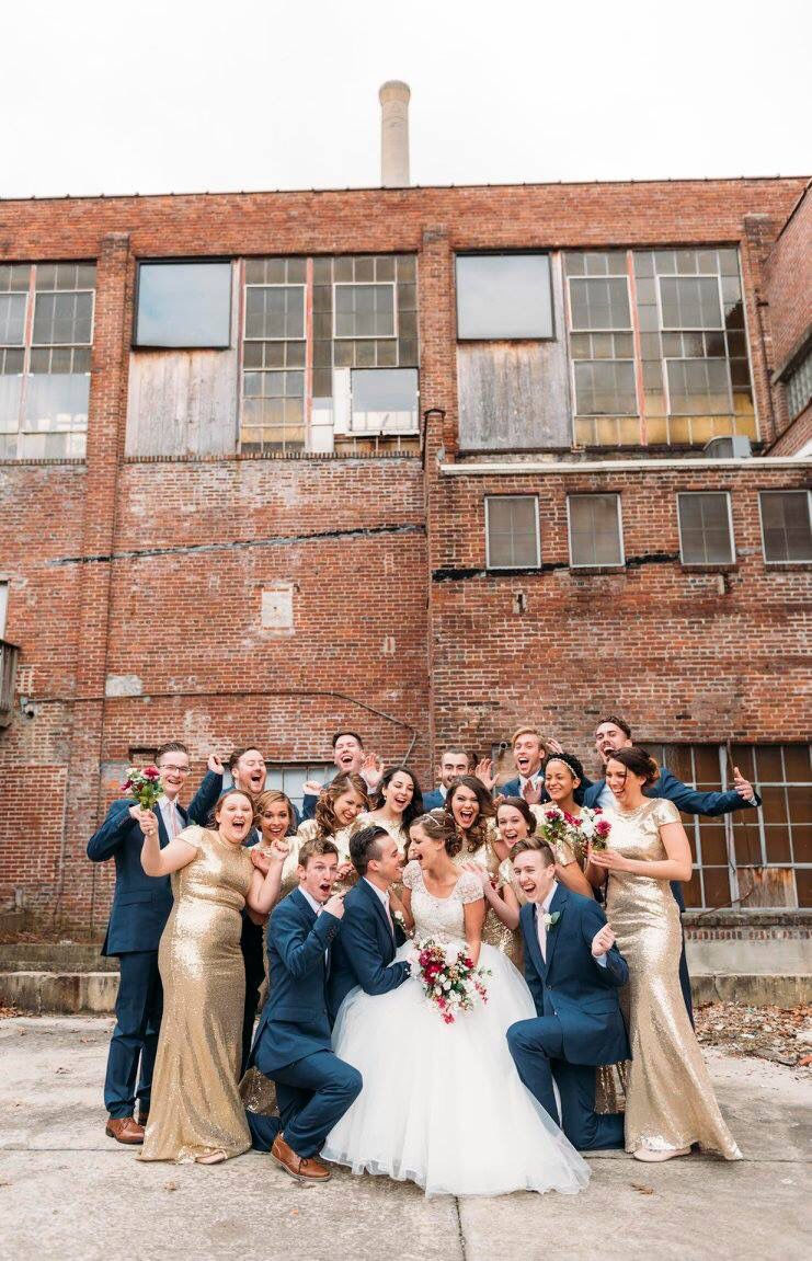 Navy Blue Sequined Gold Wedding Party Gold Long Bridesmaids Dresses Navy Long Gold Bridesmaid Dresses Bridesmaid Dresses Sequin Wedding