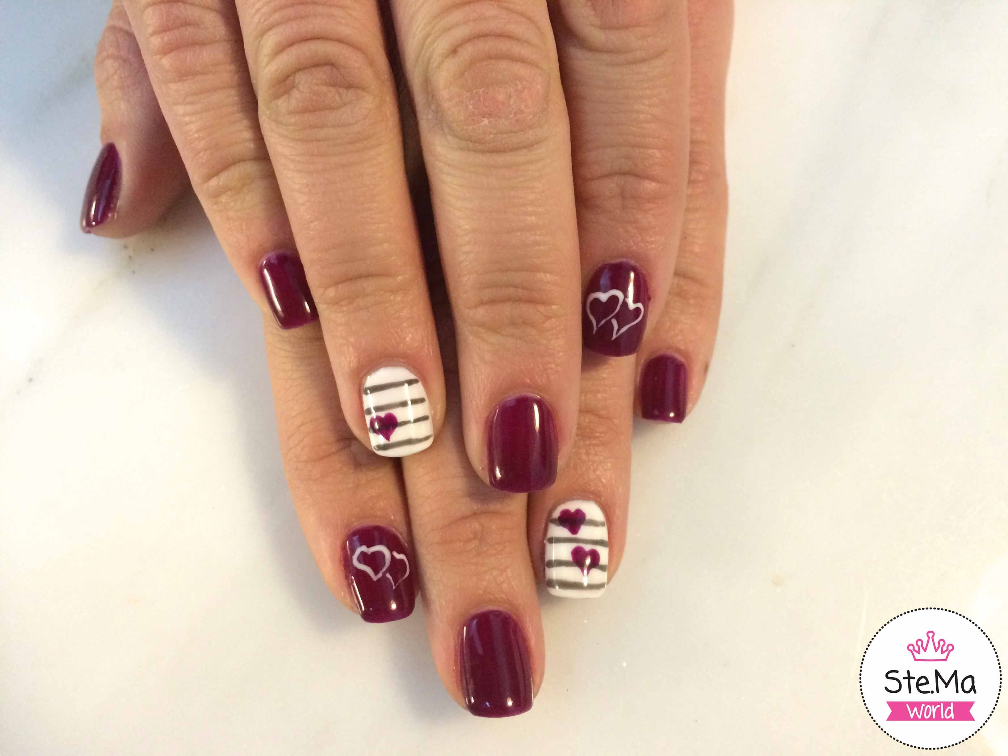 Winter nails with hearts | Ste.Ma hair&nails | Pinterest | Winter nails
