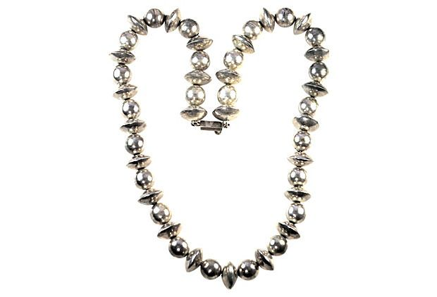 Taxco Silver Bead Necklace on OneKingsLane.com
