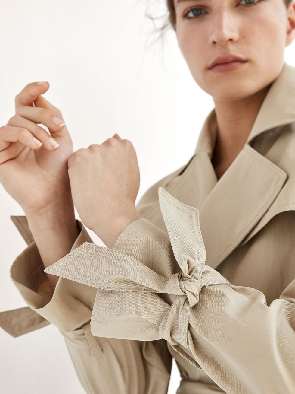 5b0bde6d Spring summer 2017 Women´s TRENCH COAT WITH BOW DETAIL at Massimo Dutti for  198. Effortless elegance!