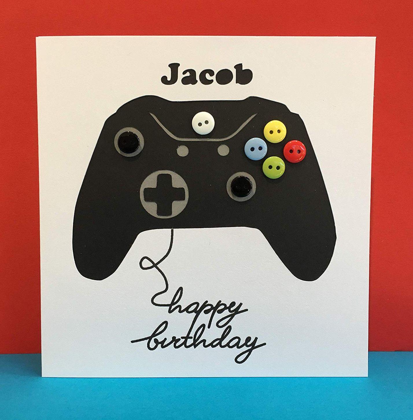 8 Best Xbox Controller Birthday Card in 8  First birthday