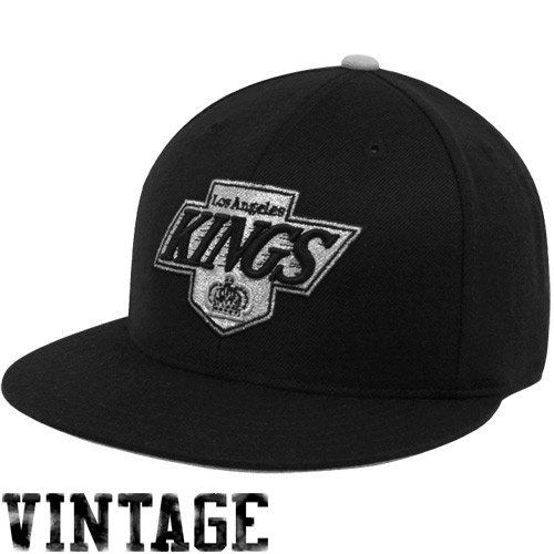 Mitchell   Ness Los Angeles Kings Vintage Fitted Hat 7 3 4 by Mitchell   12e35b54aa