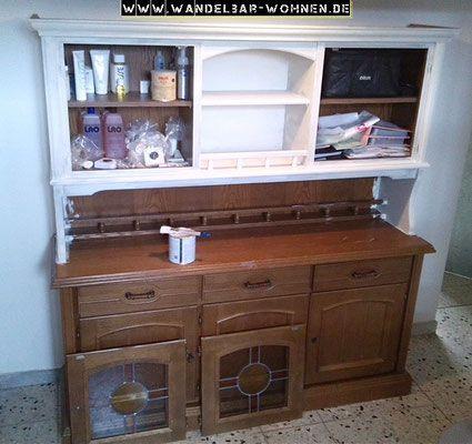Schrank streichen, Möbelstück richten, alter Schrank, streichen ...