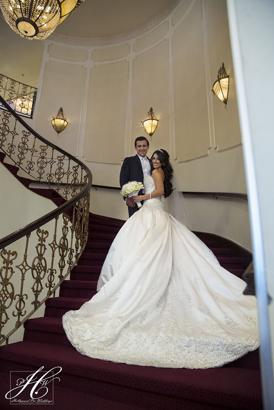 Stairs Makes A Beautiful Place For Wedding Photos Especially If You Have Long Train Such Location Reception In Glendale