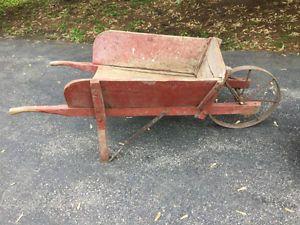 Antique Wooden Wheelbarrow Complete With Original Steel Wheel Oshawa Durham Region Toronto Gta Image 1 Wooden Wheelbarrow Wheelbarrow Wheel Art