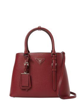 e1353edb0f68 ... purchase double small saffiano leather tote from prada handbags c3913  d78d5