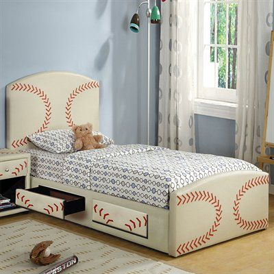 Furniture Of America Cm7102bsbl Olympic Baseball Themed Kids Platform Bed