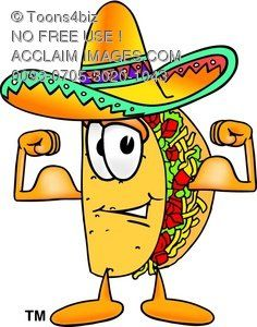 mexican characters reading pictures cartoon taco