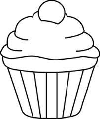 If You Give A Cat A Cupcake Cupcake Line Drawing Google Search Cupcake Template Cupcake Clipart Cupcake Outline