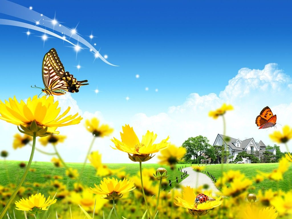 Fresh Modern Cartoon Images Of Spring Flowers #23208