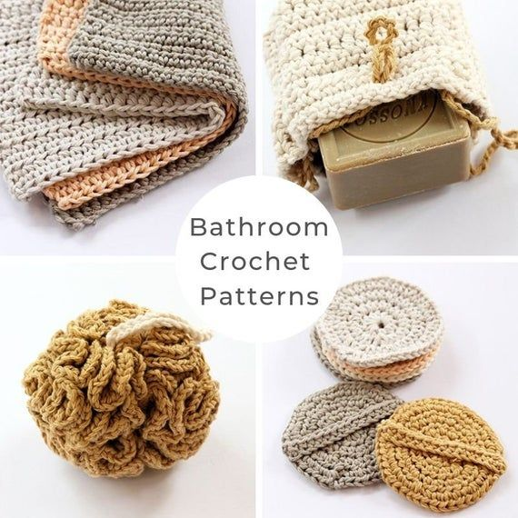 Bathroom crochet patterns, crochet pattern, washba