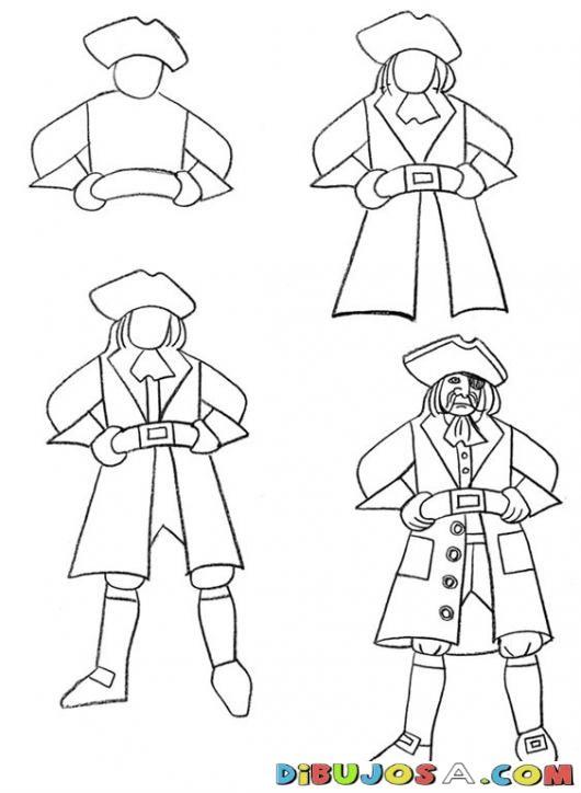 Como Aprender A Dibujar Un Pirata En Cuatro Pasos Para ...