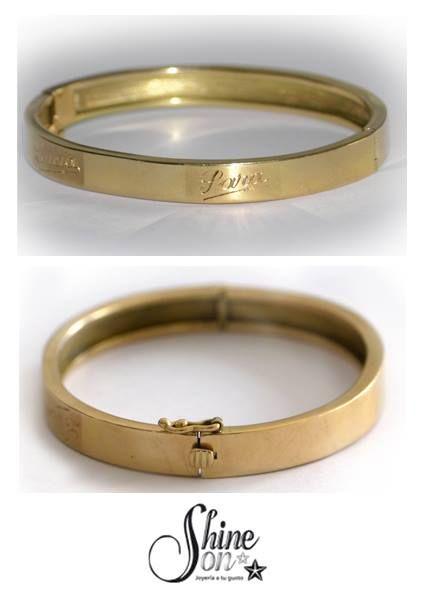 ee3f626022c1 Pulsera esclava oro.