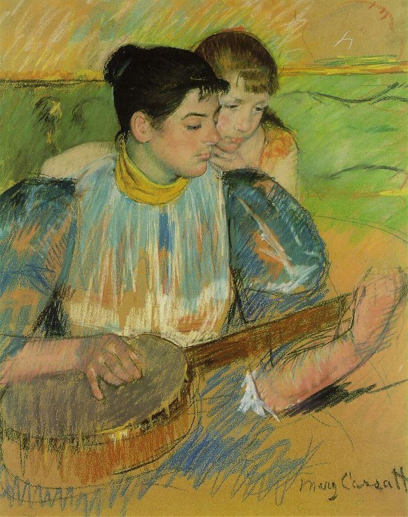 The Banjo Lesson Mary Cassatt American Pastel Over Oiled On Tan Wove Paper Virginia Museum Of Fine Arts A Mother Teaches Her Child