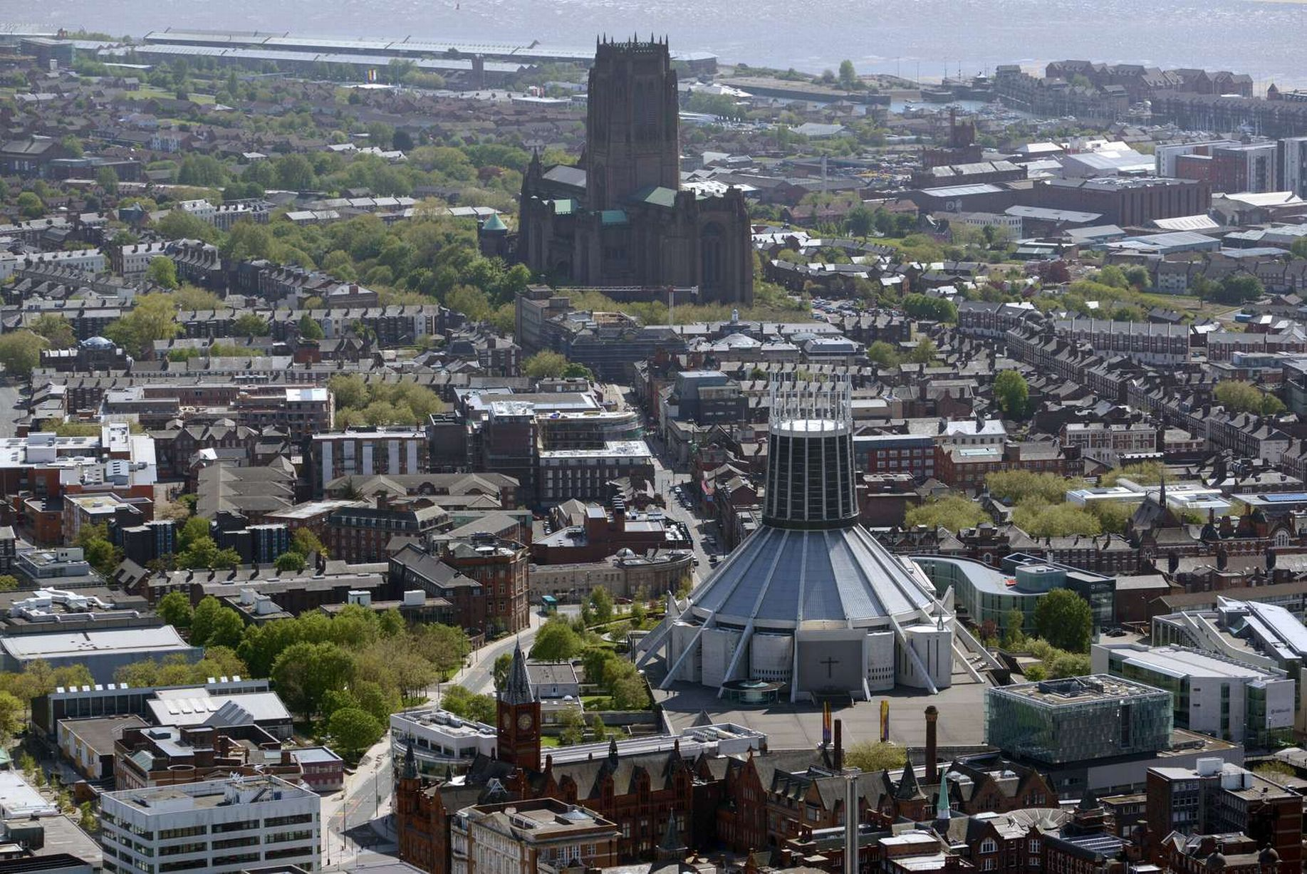 Beautiful aerial pictures show Liverpool from the air