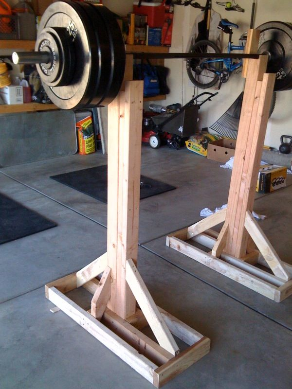 Wooden squat rack do it yourself