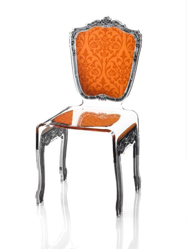 Acrila Chaise Baroque Orange Acrylic Chair Baroque Chair Acrylic Furniture