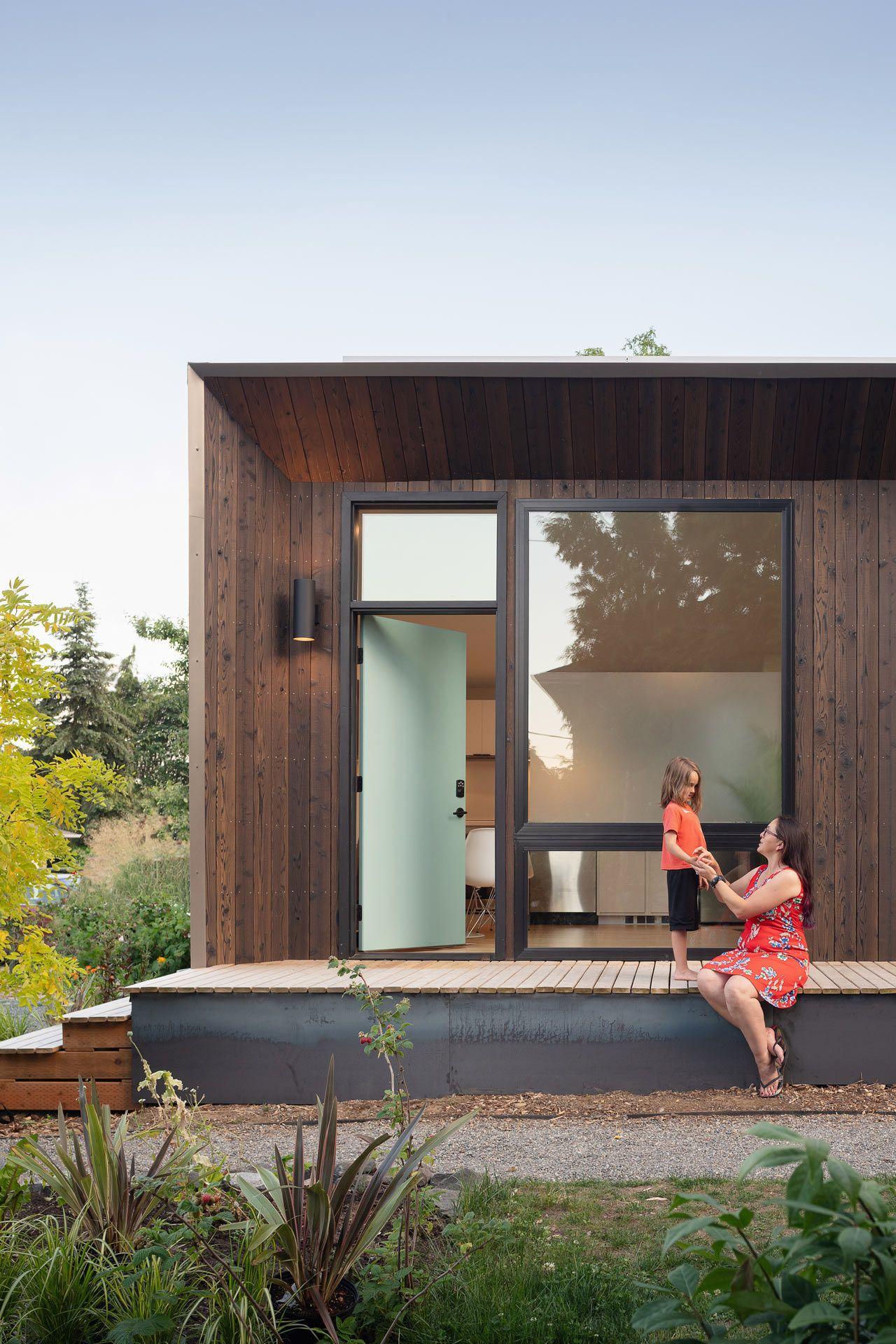 This One Bedroom Backyard Prefab In West Seattle Runs On Solar Power Backyard Cottage House Design Prefab