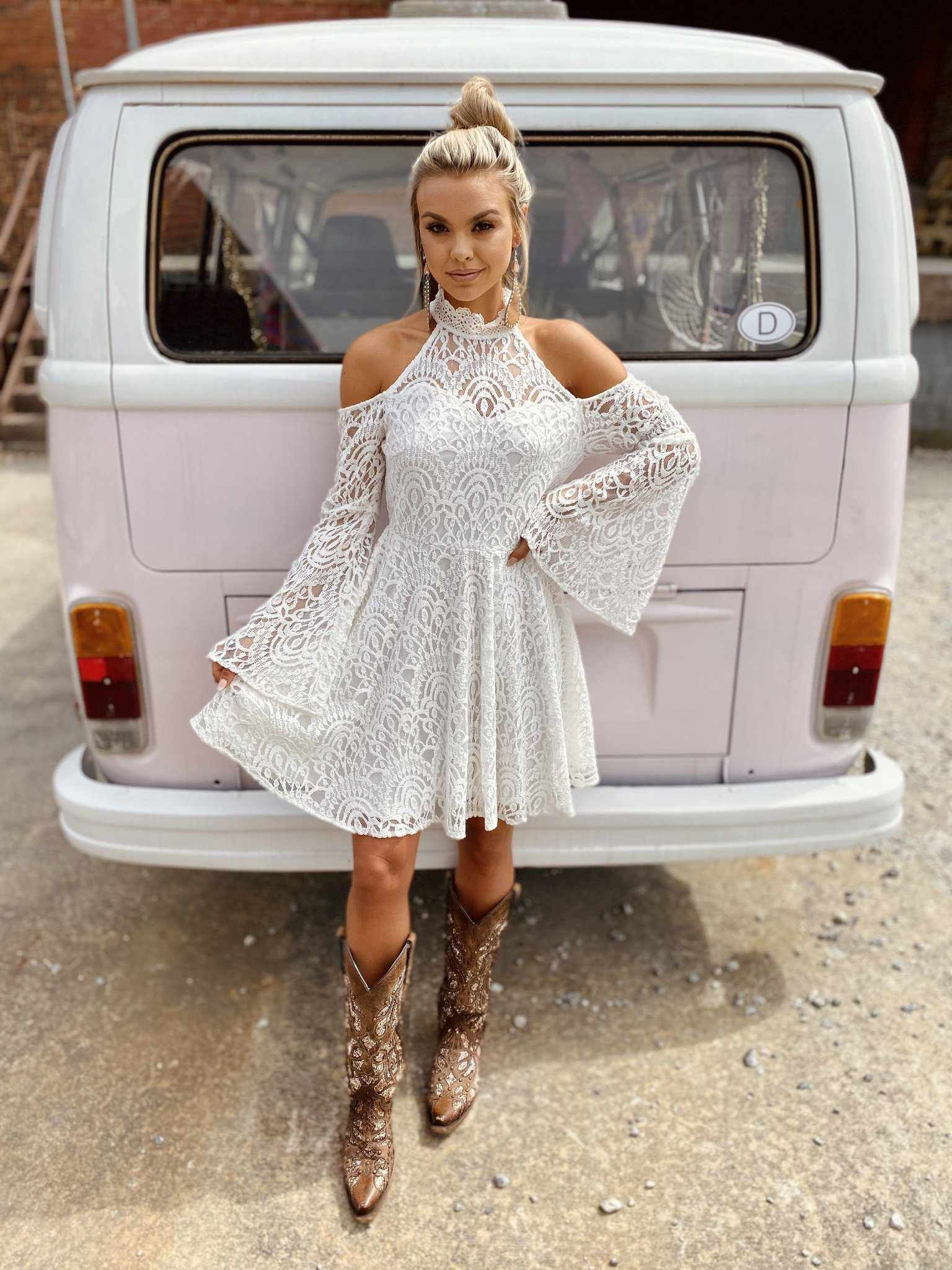 Off The Market Dress White Lace Summer Dresses Western Formal Dresses Cute Country Dresses [ 2048 x 1536 Pixel ]