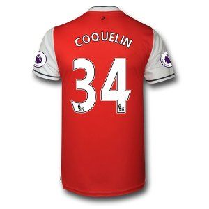 Arsenal FC Jersey 2016/17 Season Home Soccer Shirt #34 COQUELIN [E996]