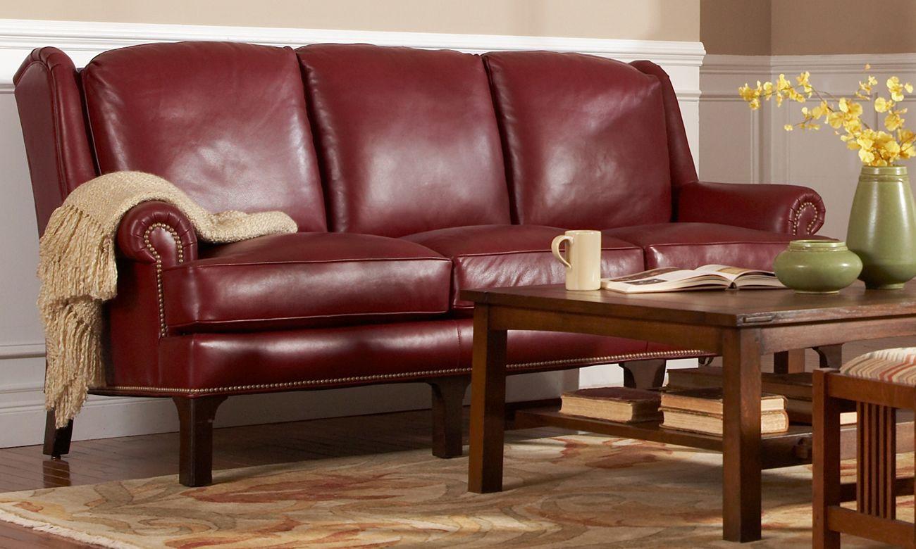 Stickley Furniture Pinehurst Leather Sofa Stickley Fine