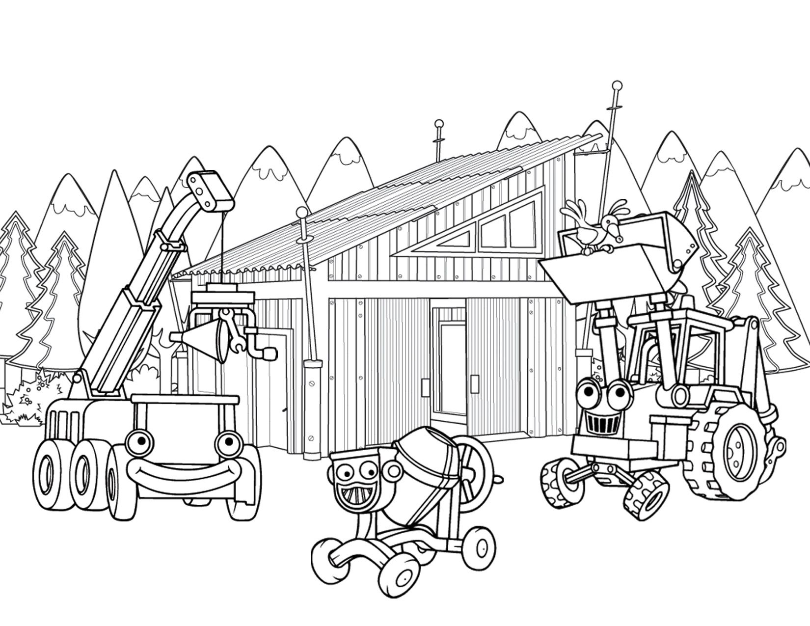 Construction Coloring Pages Building Sheet
