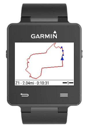 dwMap routeCourse for Garmin GPS Watch and Edge Watches
