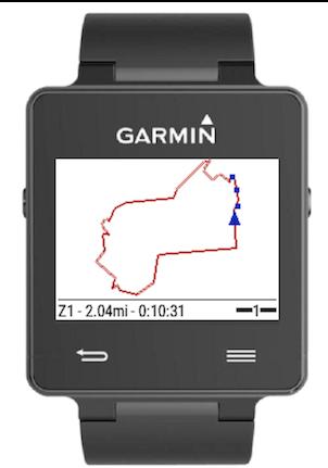 dwMap routeCourse for Garmin GPS Watch and Edge Watches