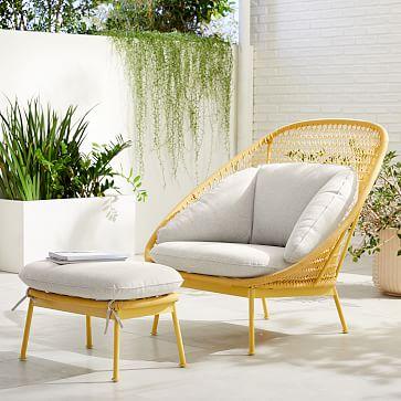 Paradise Outdoor Lounge Chair Ottoman Set In 2020 Lounge Chair Outdoor Rattan Lounge Chair Chair And Ottoman Set