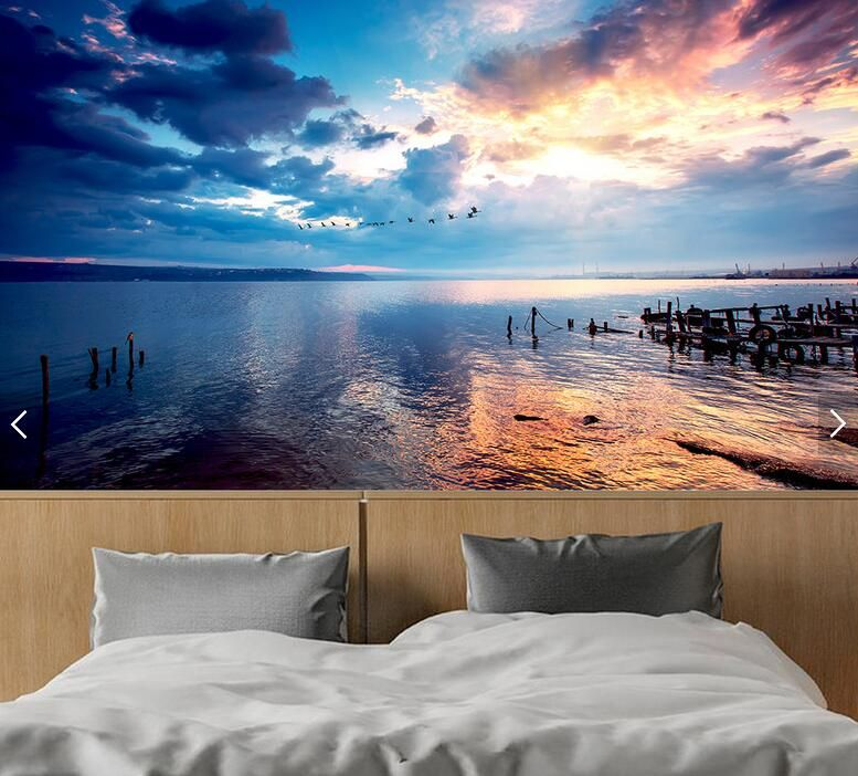 Find More Wallpapers Information About Beach Night Landscape Abstract Modern Wallpaper Roll 3d Mural Night Landscape Living Room Wall Wallpaper Mural Wallpaper