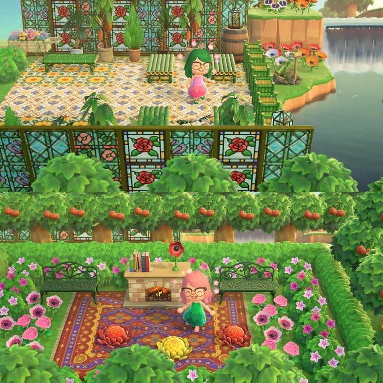 I Made Two Secret Garden Hang Outs For My Villagers Animalcrossing Animal Crossing Animal Crossing Game New Animal Crossing