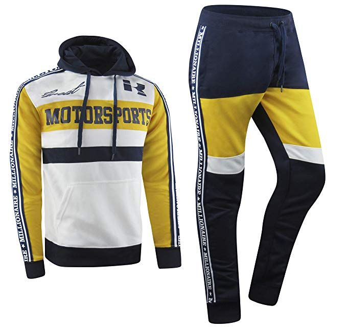 39a7498b618 ALMAS APPAREL New Men Stripe Zip Pocket Track Pants Sweatsuit Men s  Tracksuits Zipper Joggers at Amazon Men s Clothing store