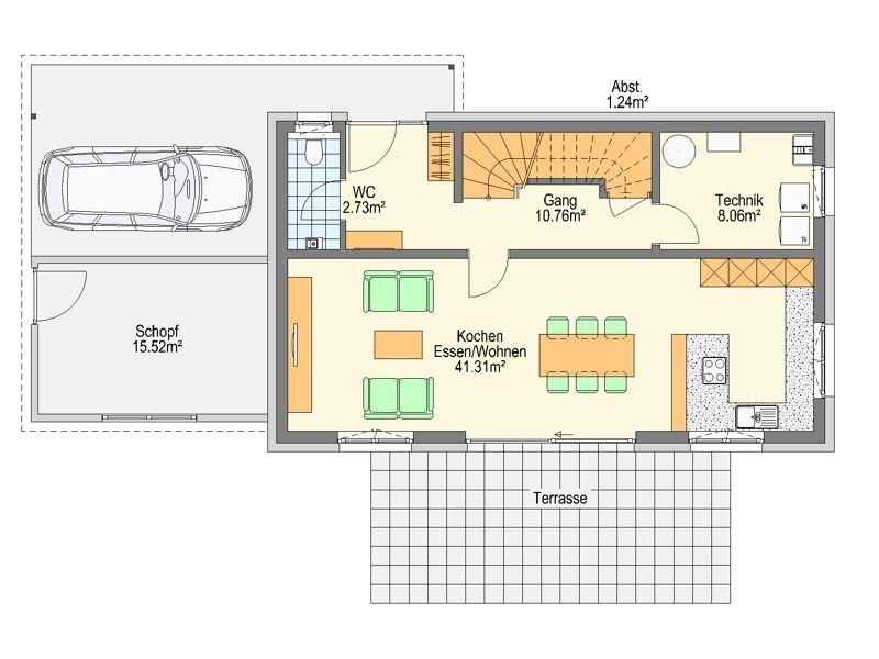 Einfamilienhaus grundriss ohne keller  Grundriss EG | grundrisse | Pinterest | Grundrisse ...