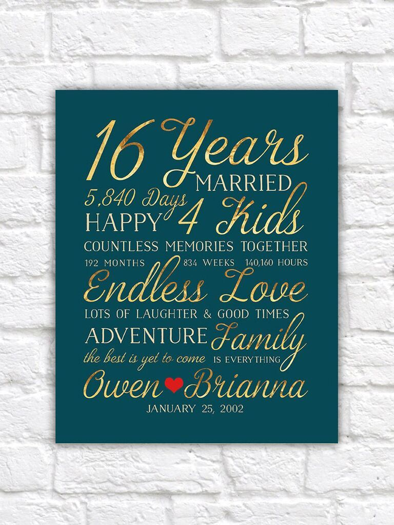 16th Wedding Anniversary Gift Ideas In 2020 16th Wedding Anniversary First Wedding Anniversary Gift Year Anniversary Gifts