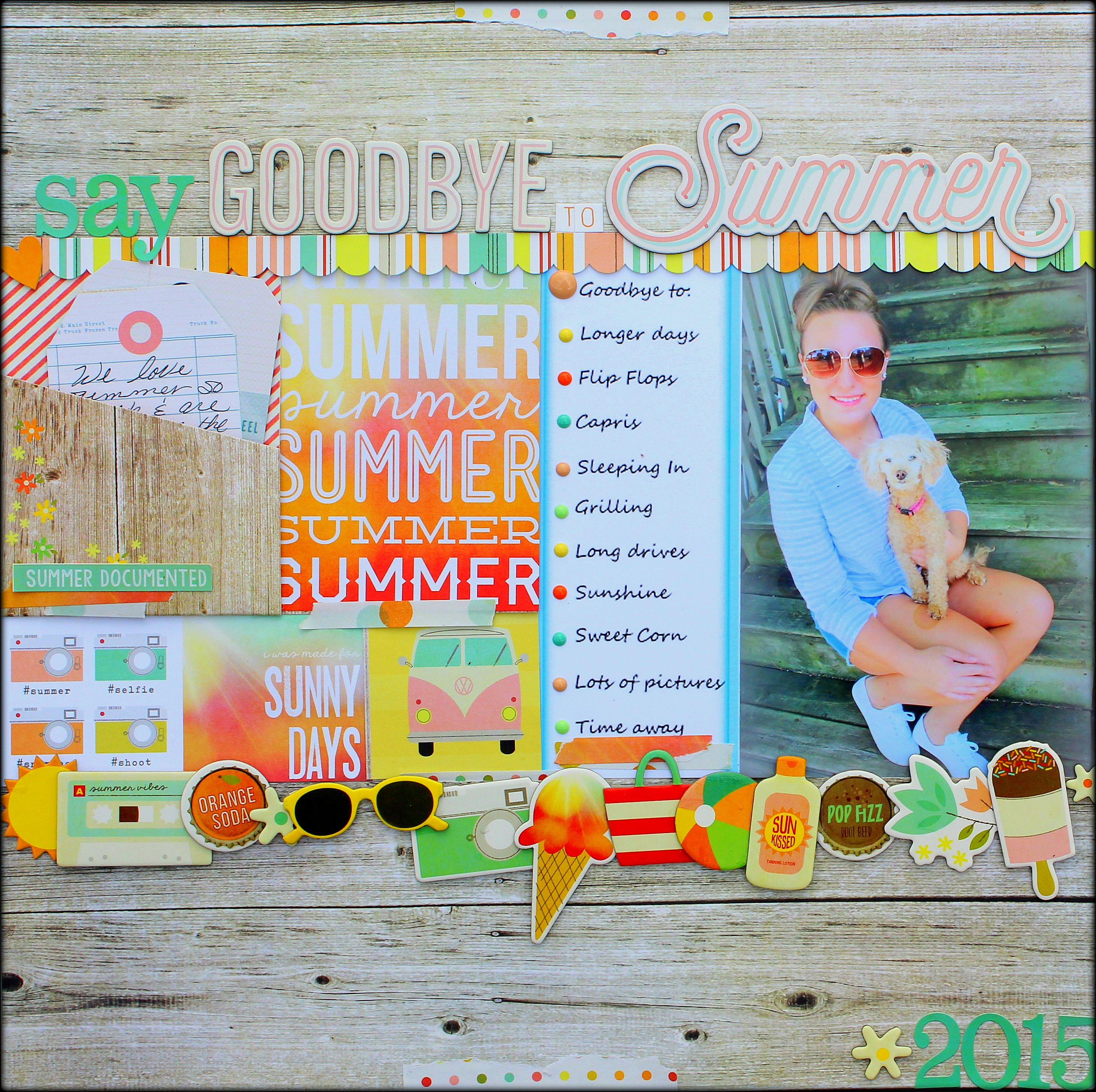 Scrapbook ideas goodbye -  Papercrafting Scrapbook Layout Say Goodbye To Summer Scrapbook Com