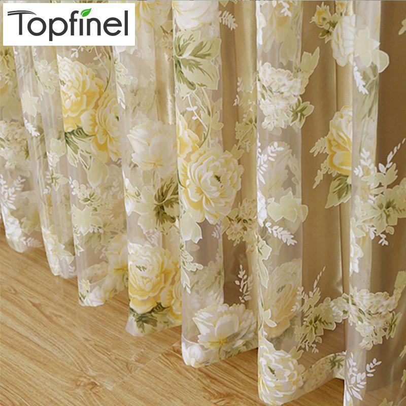 2015 hot venta rose lujo moderno tul ventana cortinas for Cortinas cortas baratas