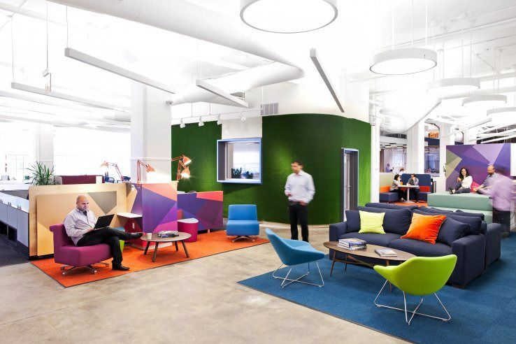 office space colors. 13 playful work environments that reinvent office space colors