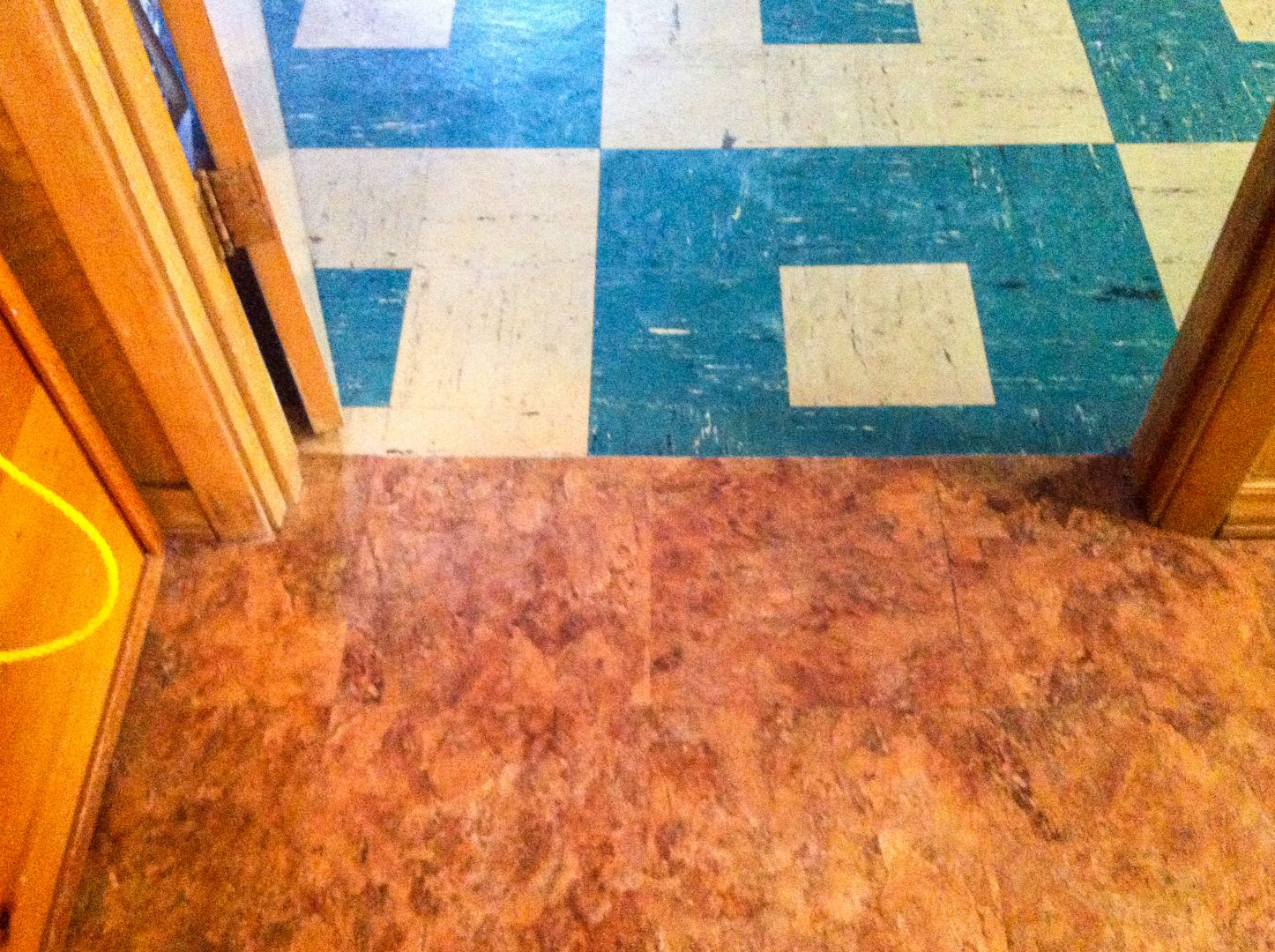 2 Sf Encapsulation Of 8 X 8 Asbestos Tile In A 50 S Ranch With 12 X 12 Vinyl Tile Glued On Top Asbestos Tile Vinyl Tile Contemporary Rug
