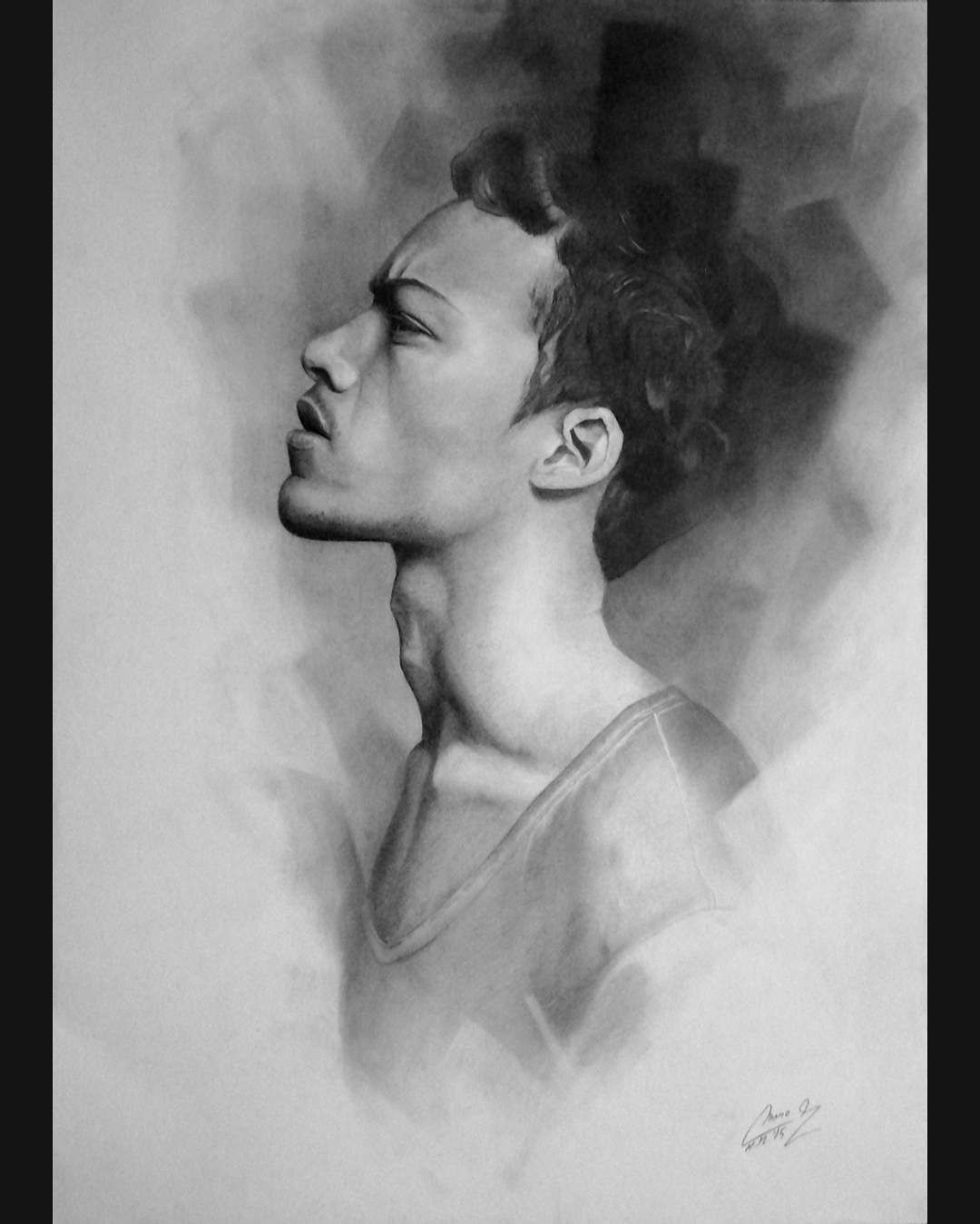 Past graphite pencil drawing 2015 70 x 50 cm what you think face portrait graphite pencil graphitepencil drawing pencildrawing drawingart