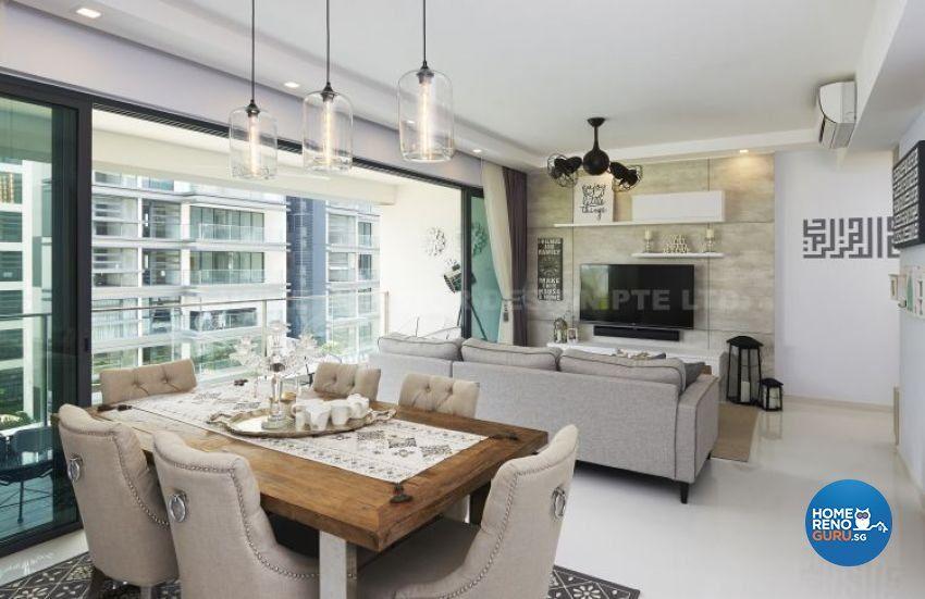 Contemporary, Modern, Tropical Design   Dining Room   Condominium   Design  By U Home Interior Design Pte Ltd
