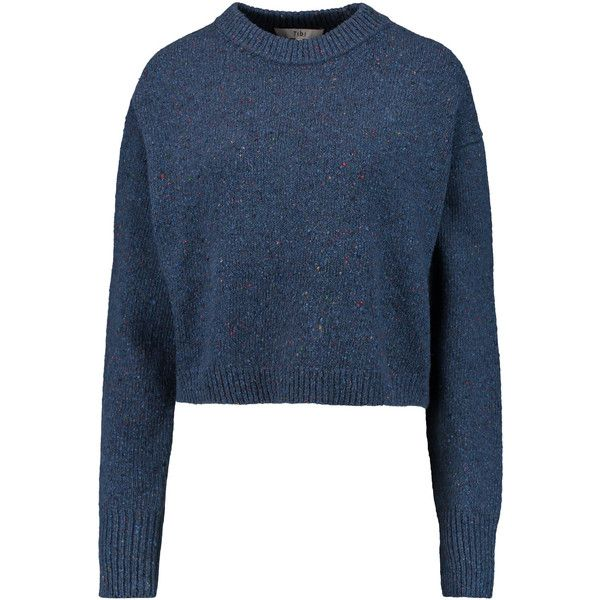 Tibi - Mélange Wool-blend Sweater ($146) ❤ liked on Polyvore ...