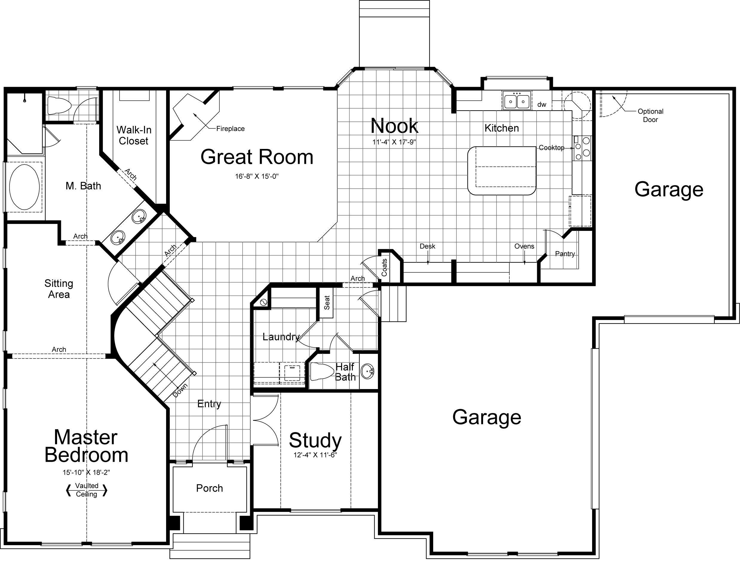 Messina Ivory Homes Floor Plan Main Level – Ivory Homes Hamilton Floor Plan