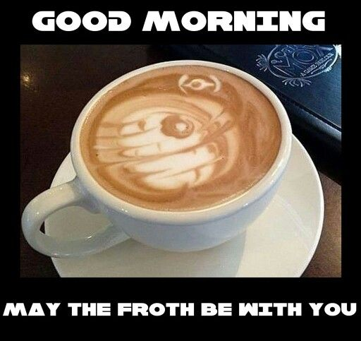 Good Morning Food Froth Coffee Drinkers